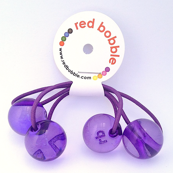 Bobble Hair Ties - Purple