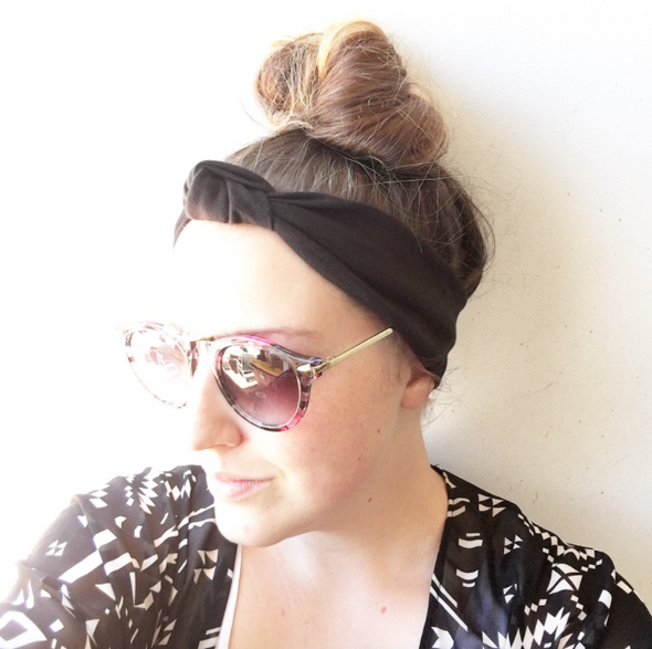 Chambray TopKnot Headband