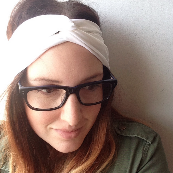 White TwistKnot Headband