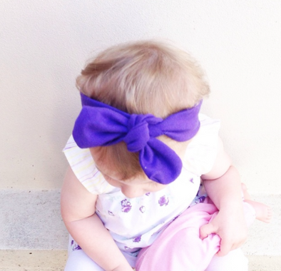 Purple BowKnot Headband