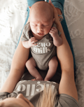 'Hello Milk' (Grey) Baby Bodysuit