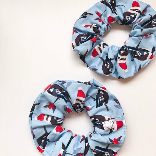 Kookaburra Christmas Scrunchie