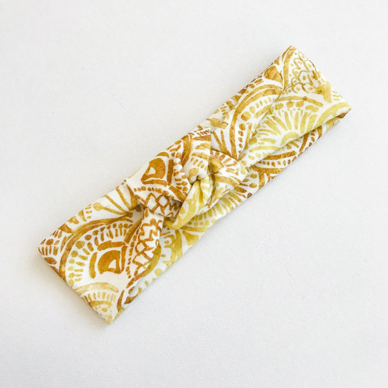 Size XS only - Golden Scales TopKnot Headband
