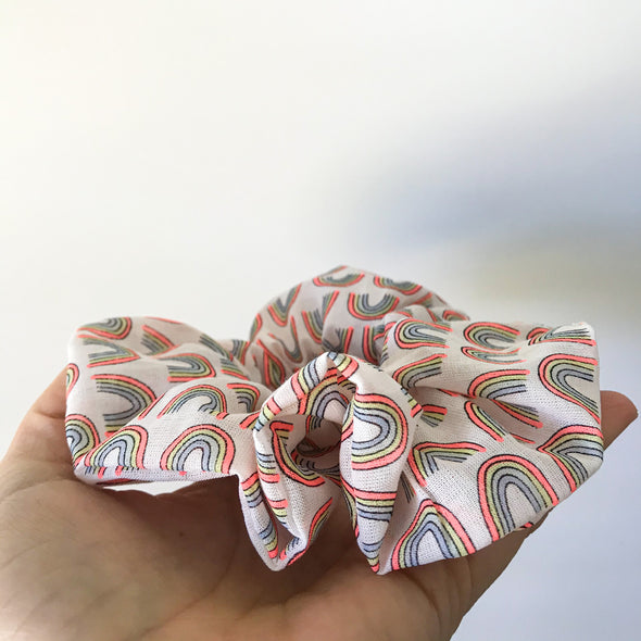 Neon Rainbow Scrunchie