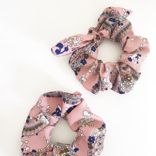 Paisley Pink Scrunchie