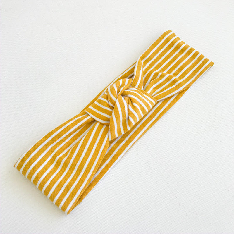 Mustard Stripe TopKnot Headband