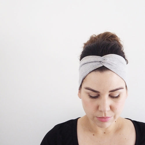 Grey WideKnot Headband