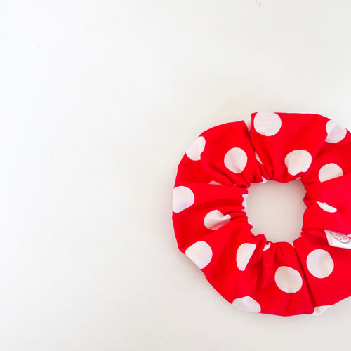 Giant Red Polkadot Scrunchie