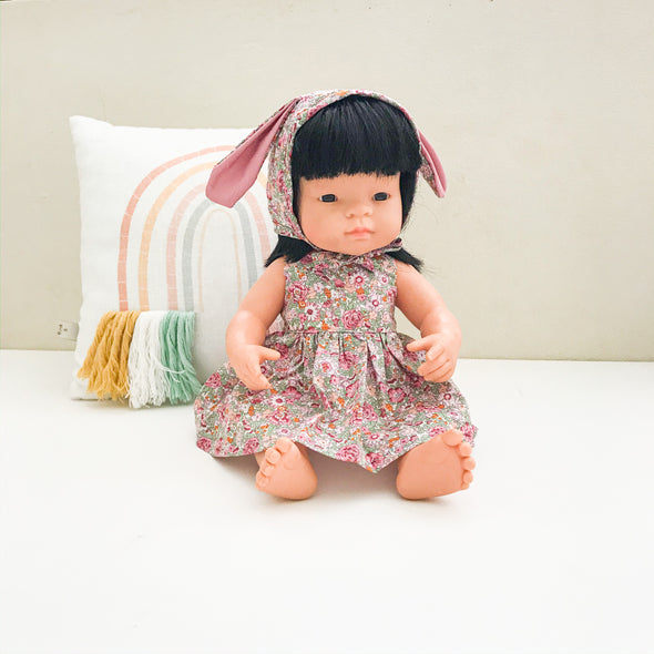 Easter Dolly Bonnet + Dress Set