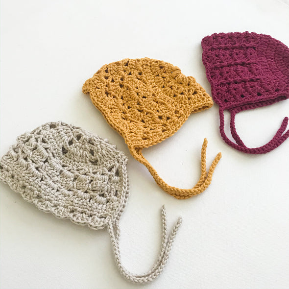 Crochet Dolly Sized Bonnets - Assorted Designs