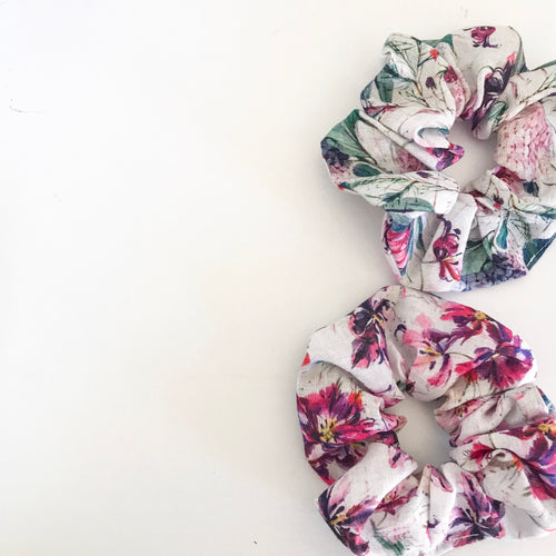 Wildflower Linen Scrunchie
