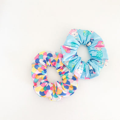 Mini Mermaid Scrunchie Duo Pack
