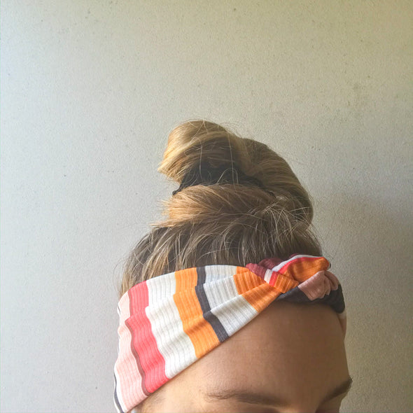 Sunset Stripe TopKnot Headband