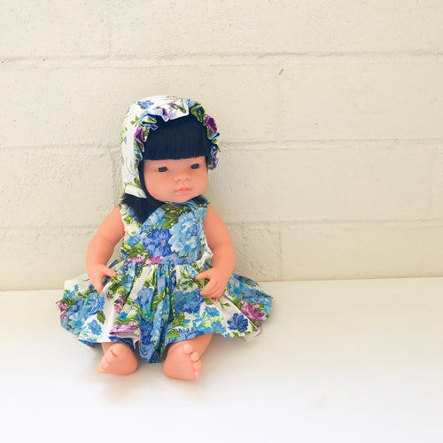 Blue Violet Dolly Bonnet