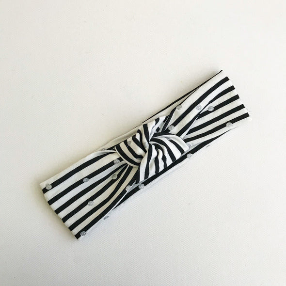 Sparkle Stripe TopKnot Headband