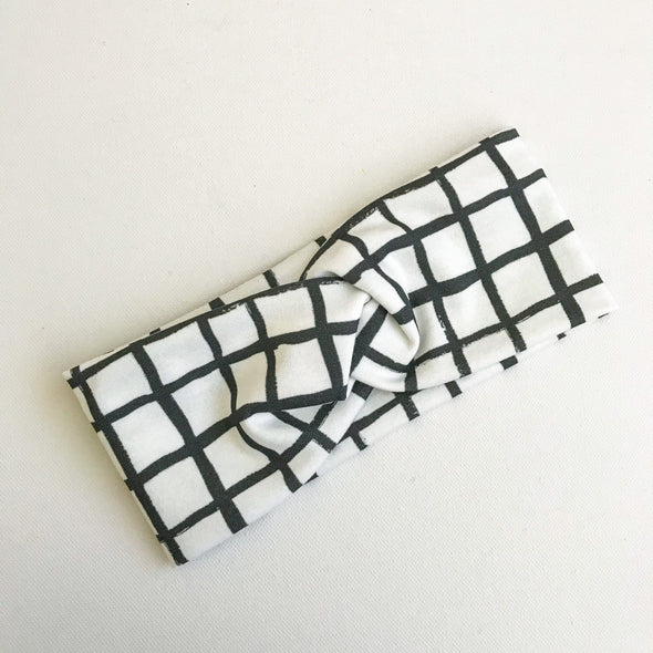 Grid WideKnot Headband