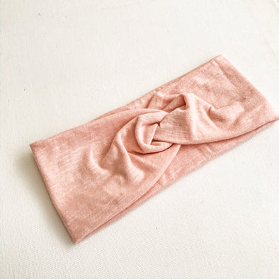 Pastel Peach WideKnot Headband