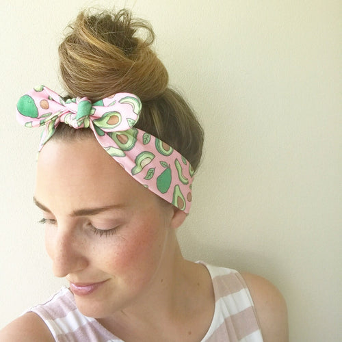 Avocado BowKnot Headband