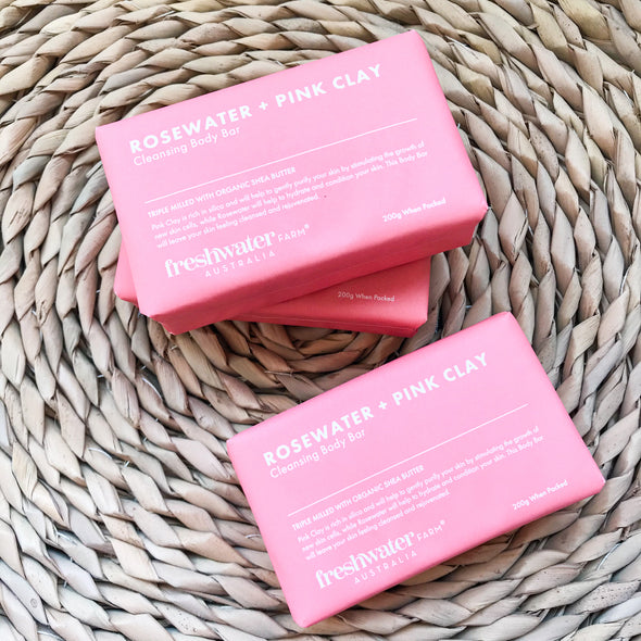 Rosewater and Pink Clay Cleansing Body Bar