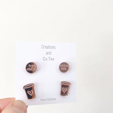 TopKnot Stud Earring Pack