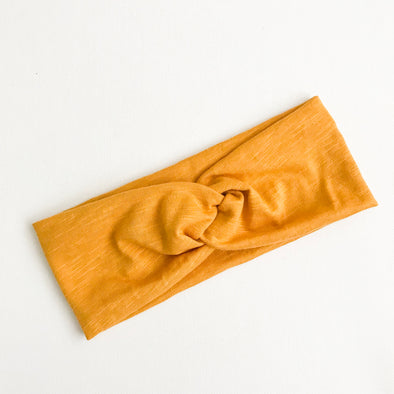 Mustard WideKnot Headband