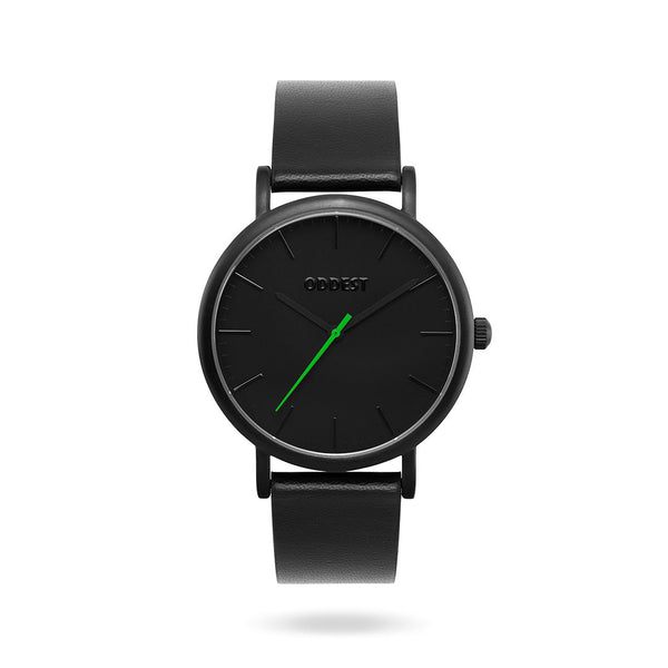 Oddest EC1 Series- Mens womens minimal watch black green