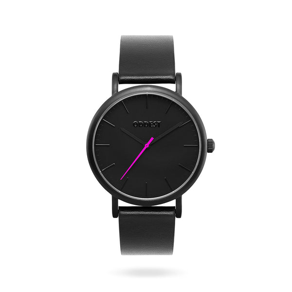 Oddest EC1 Series - Mens womens minimal watch black Pink