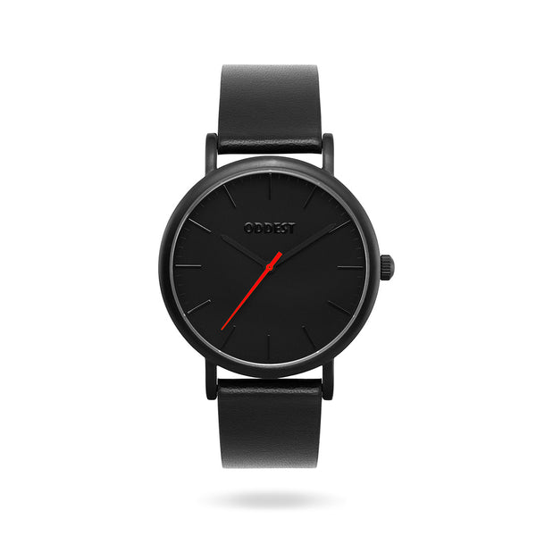 Oddest EC1 Series - Mens womens minimal watch black red