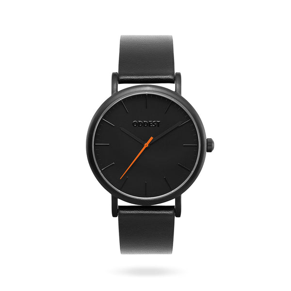 Oddest EC1 Series- Mens womens minimal watch black Orange