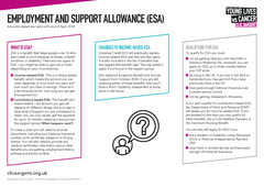 Financial factsheet - Employment and Support Allowance (ESA)