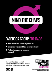 Facebook group for dads - Mind the Chaps leaflet