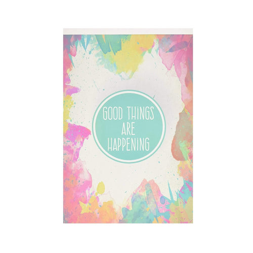 90 Day Daily Happy Notepad (Colorful) (USA only)
