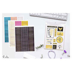 Happy Quote Sticker Pack (16 Sheets)