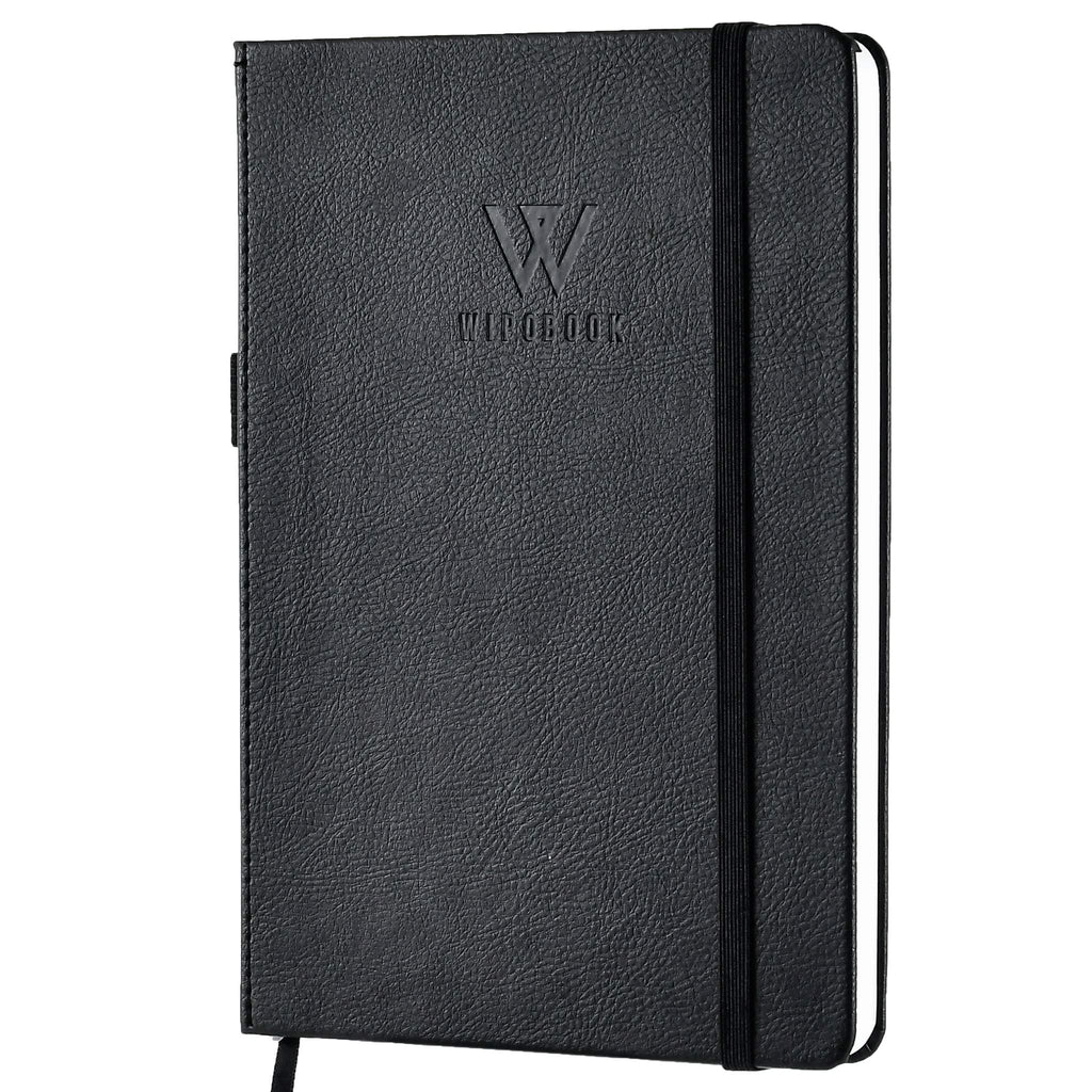 Deluxe Reusable Notebook, Dot Grid Eco-Friendly Journal with 1 WIPOBOOK Erasable Pen (128pages, A5 size (5.8 × 8.3 inches) Write and Wipe Off, Reuse As Much As You Want.