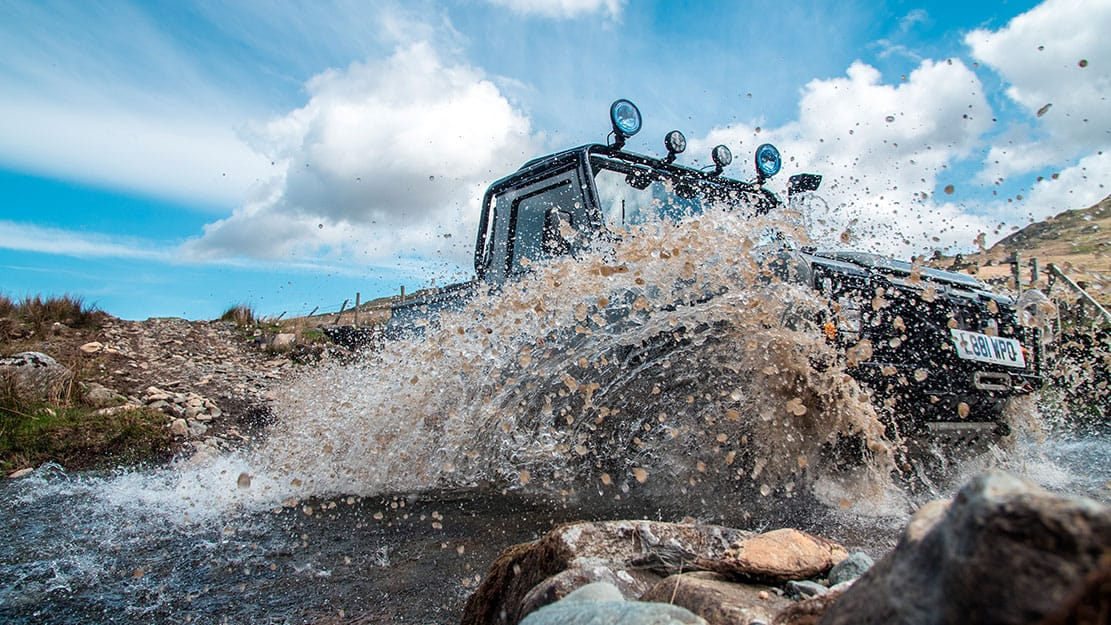 Landrover river crossing