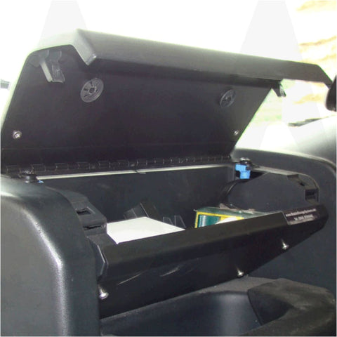A picture of a fitted glove box in a puma defender