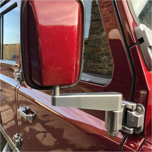 Optimill door mirrors in red