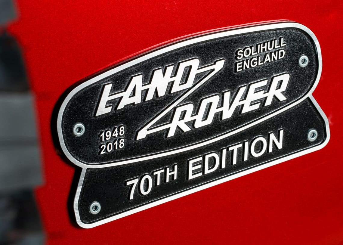 Land Rover Defender 70Th Edition The Details...