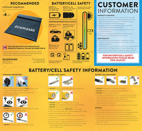 Battery Safety Leaflet