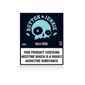 Koala Drool by Button Junkie - Grape and Menthol flavour e-liquid