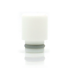 White Teflon Stumpy Wide Bore Drip Tip