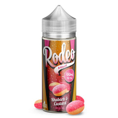 Rodeo Rhubarb & Custard 100ml Short Fill