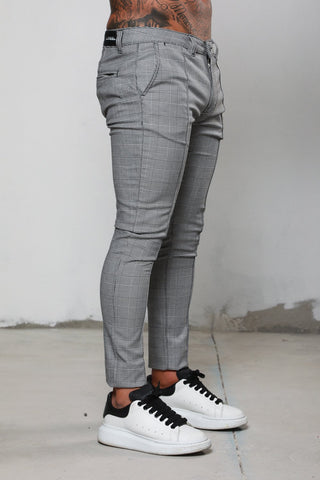 Surreal Prince of Wales Checked Grey Chino