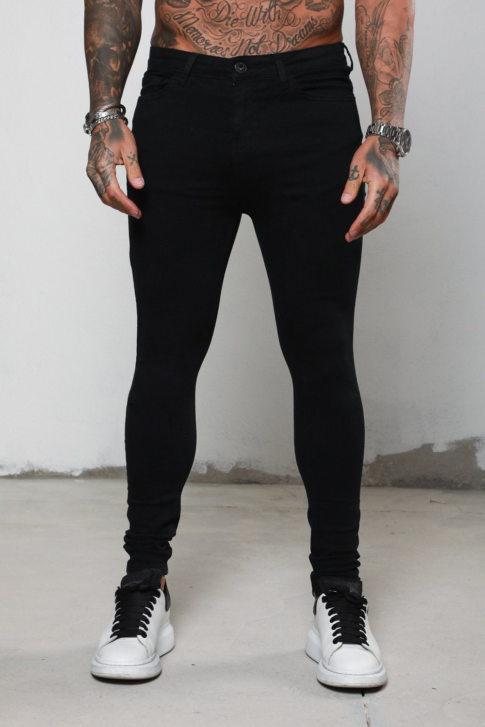 Surreal Non Rip Black Jeans