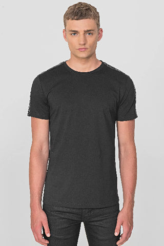 Antony Morato LOGO BAND DETAIL ON SLEEVES BLACK MMKS01850-FA100144-9000