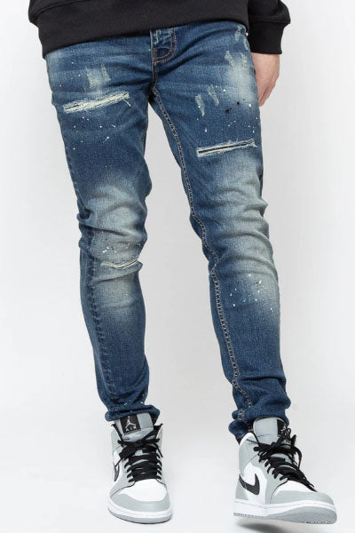 VALERE MILANO PESCARA HEAVY WASH SLIM TAPERED JEAN