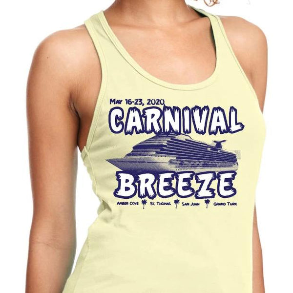 Carnival Breeze May 16, 2020 Ladies Racerback Tank