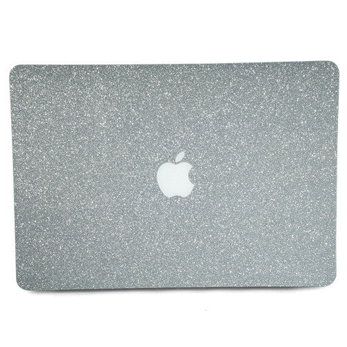 Glitter Silver MacBook Skin