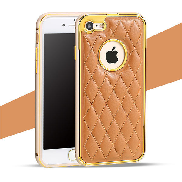 Grid Leather iPhone Cases