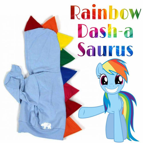 #022 -  RTS RARE MLP Rainbow Dash-a-saurus - Youth S (6-8) | Youth M (10-12)